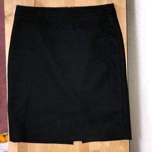 Black Wool/Viscose Pencil Skirt